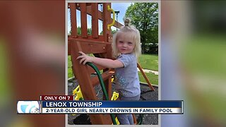 2-year-old girl nearly drowns in family pool