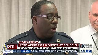 School district police talk about school violence - Video