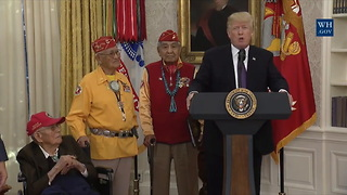 [1280x720] Trump calls Warren Pocahontas at event honoring Native American veterans  TheHill - Video