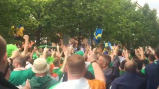Irish Fans Chant about the 'Sexy Wives' of Sweden - Video