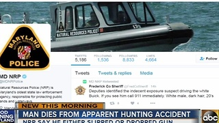 California man dies from apparent hunting accident in Maryland