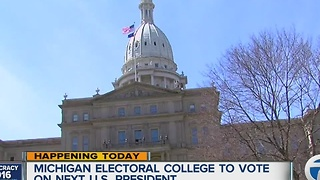 Michigan's 16 electors set to cast electoral college vote - Video