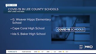 Schools in Southwest Florida with report COVID-19 cases
