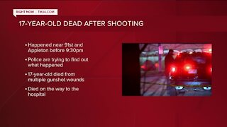 17-year-old dies after Monday night shooting, Milwaukee police say