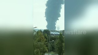 Evacuations ordered as major blaze breaks out in Luxembourg - Video