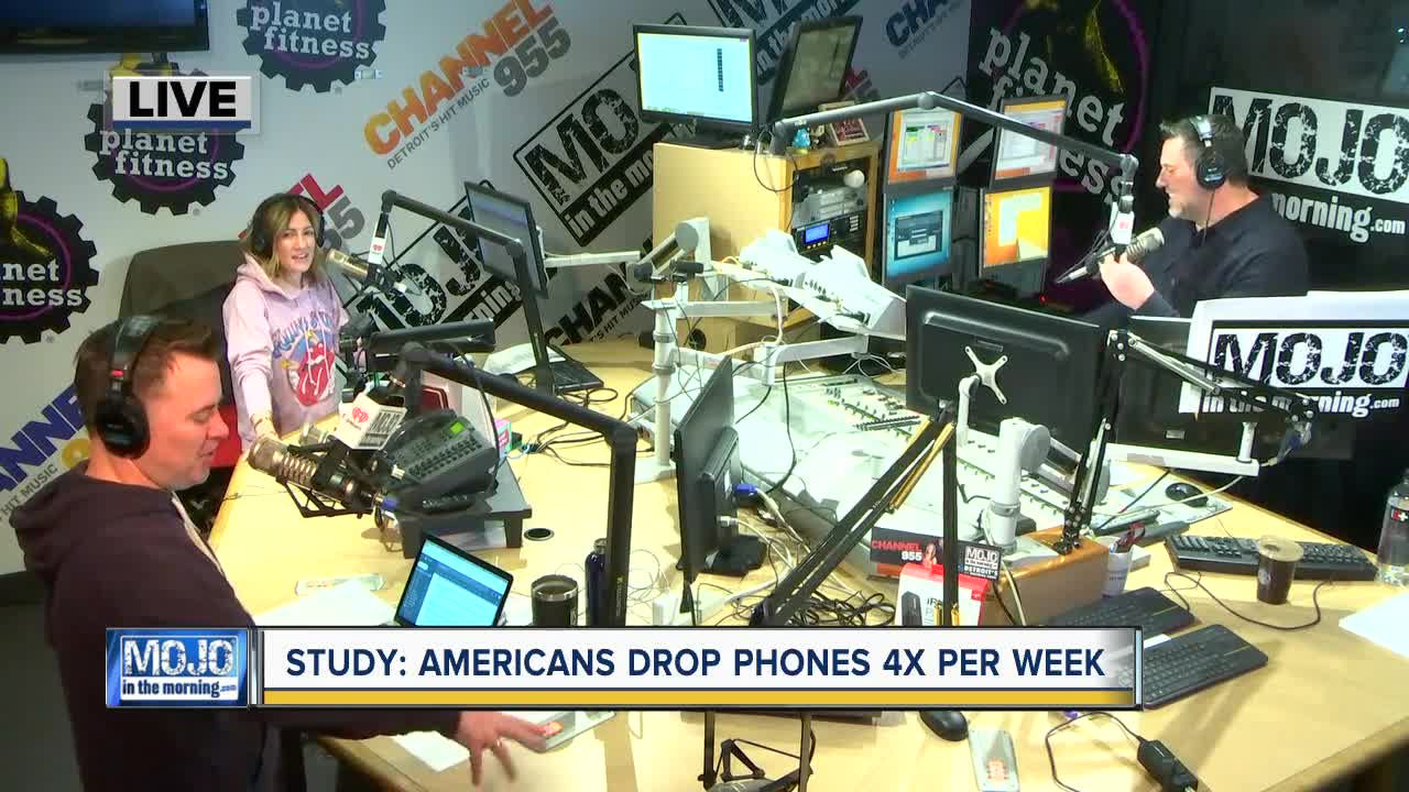 Mojo in the Morning: Study says Americans drop phones 4x a week