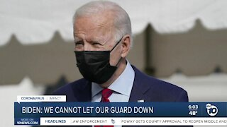 Biden: We cannon let our guard down