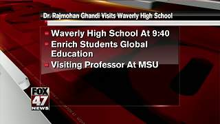 Dr. Rajmohan Gandhi visits Waverly High school - Video