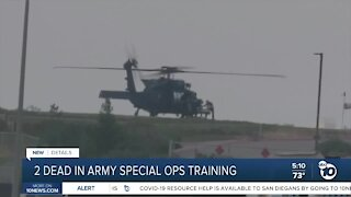 Army Special Operations soldiers killed in crash