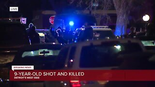 9-year-old shot and killed after being left home alone on Detroit's west side