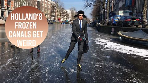 7 interesting moments spotted on frozen Dutch canals