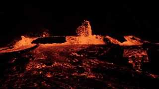 Surge of Magma Causes Lava Lake of Erta Ale Volcano to 'Boil Over' - Video
