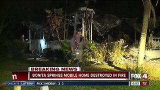 Bonita Springs mobile home destroyed by fire