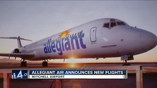 Allegiant announces new nonstop flights from Milwaukee to 5 warm-weather cities - Video