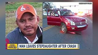 Police search for driver who reportedly abandoned stepdaughters after rollover crash in Haines City - Video
