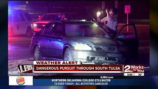Driver arrested after dangerous pursuit in South Tulsa