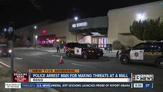 Man arrested after making threats at Reno mall