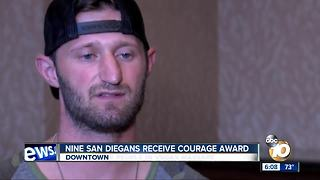 Nine San Diegans receive courage award - Video