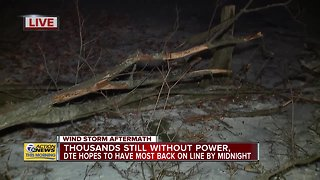 DTE says 47,000 without power after high winds - Video