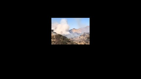 Firefighters Battle Brush Fire in Simi Valley
