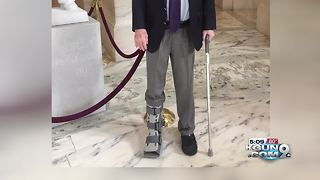 Sen. McCain treated at Walter Reed for torn Achilles tendon
