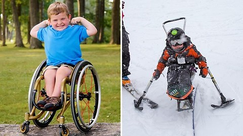 6-Year-Old Paralyzed Cancer Survivor Uses Wheelchair Skis to Rule the Slopes