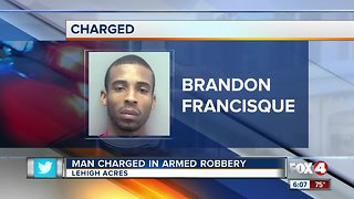 Man charged in Lehigh Acres robbery