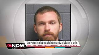Convicted rapist gets joint custody of victim's child - Video