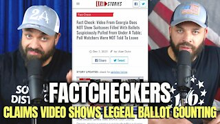Factcheckers Claims Georgia Video Evidence Shows Legal Ballot Counting
