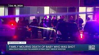 Family mourns death of baby who was shot in Mesa