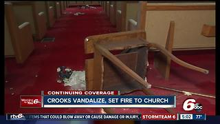 Bartholomew County church vandalized and set on fire - Video