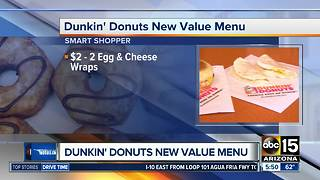 Dunkin Donuts rollout new value menu - Video