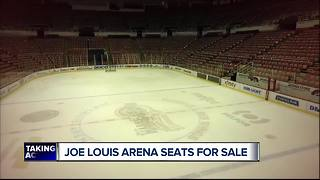 Joe Louis Arena seats for sale - Video
