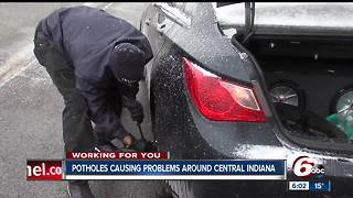 Potholes causing flat tires across Central Indiana - Video