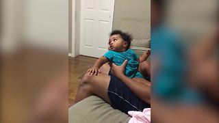 Baby Girl Stops Crying When The Theme Song Of Law And Order Comes On - Video