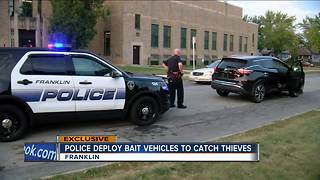 Franklin police use 'bait vehicles' to catch carjackers - Video