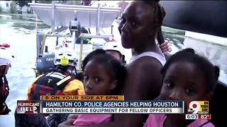 Local police agencies are helping Houston - Video