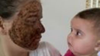 Baby Has the Best Reaction to Her Mother's Facial Mask - Video