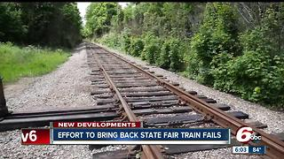 Effort to bring back state fair train fails