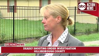 Deputies search for suspect after 28-year-old man found shot, killed in Tampa - Video