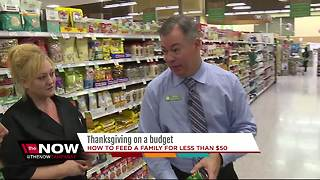 Thanksgiving on a budget, how to feed a family for less than $50 - Video