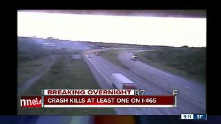 1 killed in crash on WB I-465 - Video