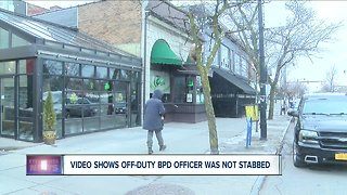 Video shows off-duty BPD officer was not stabbed