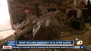 Trump declares emergency in California after earthquakes