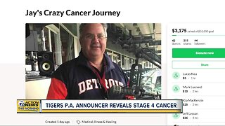 Tigers P.A. announcer reveals stage 4 cancer