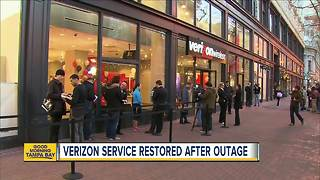 Verizon service restored after massive outage across Tampa Bay area - Video