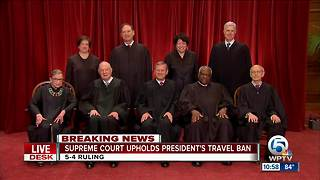 Supreme Court uphold President Trump's travel ban - Video
