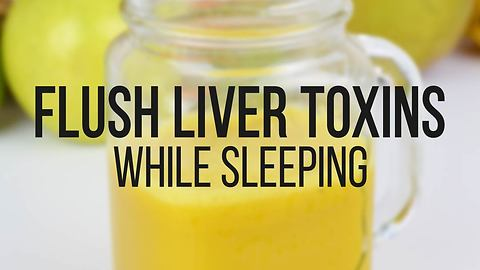 Beverage to help flush liver toxins while you sleep