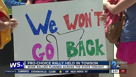 Protestors statewide hold 'Stop the Ban' rallies following the passing of recent abortion laws