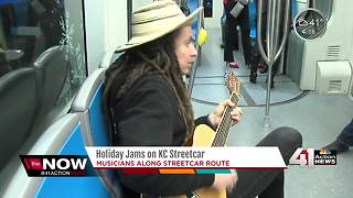 Holiday jams along the KC Streetcar route - Video